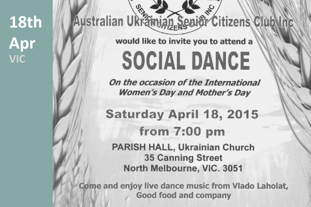 Australian Senior Citizens Club Social Dance