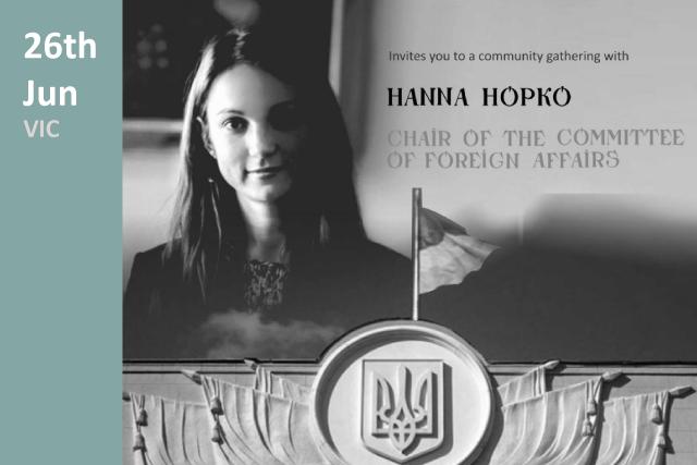 Hanna Hopko - community gathering