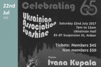 Ukrainian Association Sunshine - celebrating 65 years
