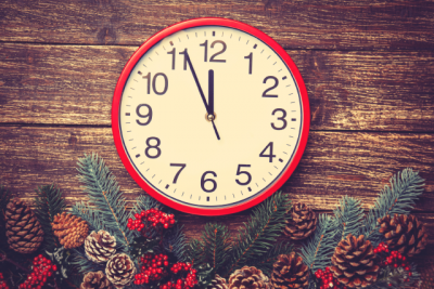 Christmas Trading Hours - clock